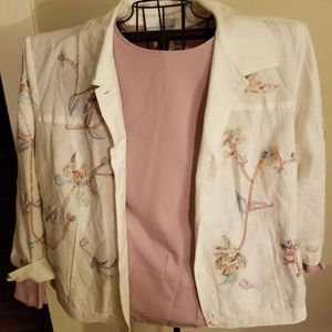Cream embroidered jacket